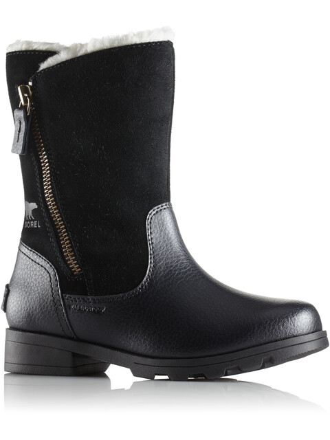 Sorel Emelie Foldover Boots Youth Black/Black